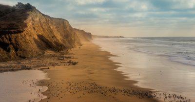 Sunset at San Gregorio State Beach (California)