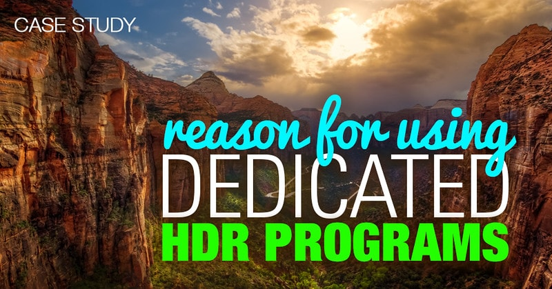 Reason for Using Dedicated HDR Programs
