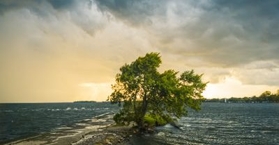 Storm at Saint Lawrence River(Montreal)