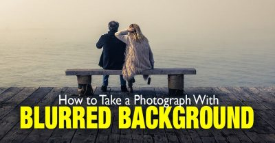 How to achieve a blurred background in your photos
