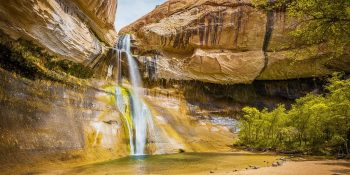 Hiking to the Lower Calf Creek Falls (Utah)