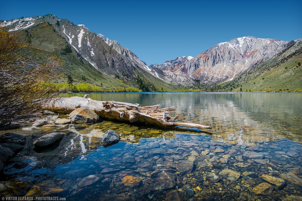 Convict Lake In Eastern Sierra California Phototraces
