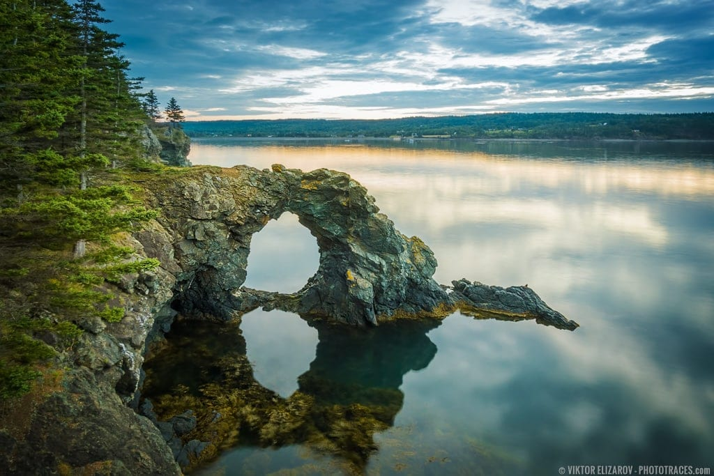 Hole In the Wall Rock on Grand Manan Island