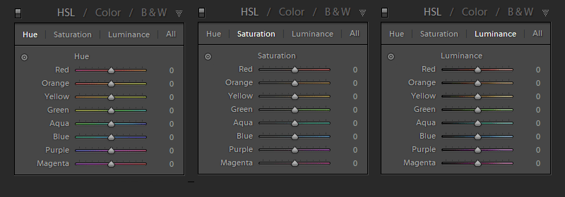 HSL Panel in Lightroom Develop Module