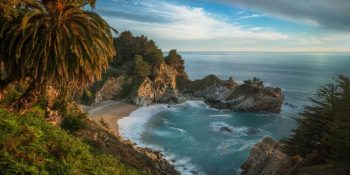 The McWay Bay at Sunset (California)