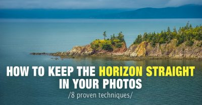 How to Keep the Horizon Straight in Our Photos