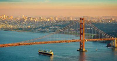 Sunset Ride Under the Golden Gate Bridge (California)