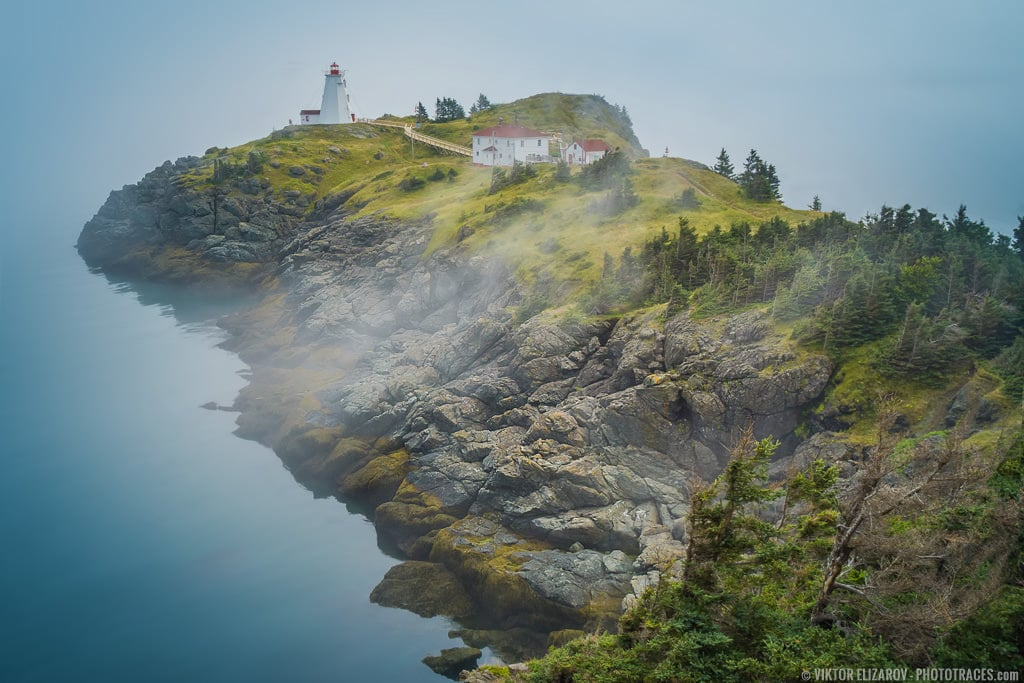 Swallow Tail Lighthouse, view though the morning fog