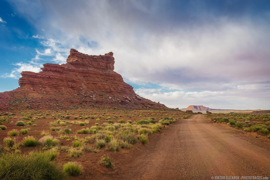 Valley of the Gods Dirt Road (gravel and clay)