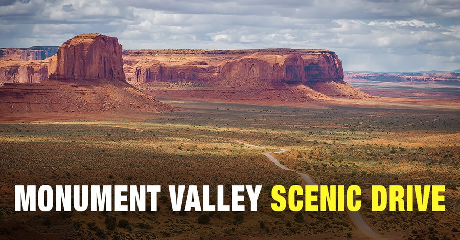 Map Of Arizona Monument Valley.Guide To Monument Valley Scenic Drive