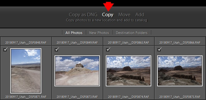 Lightroom Import Module - File Format and Import Options