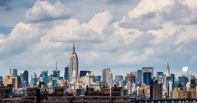 Manhattan Skyline from Brooklyn Bridge (New York)
