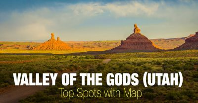 Valley of the Gods - Top Spots with the Map