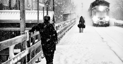 Snowstorm at the Train Station (Montreal)