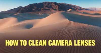 Cleaning camera lenses the right way