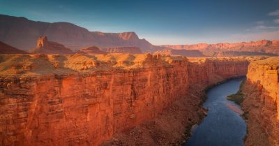 Colorado River and Marble Canyon from Navajo Bridge (Arizona)