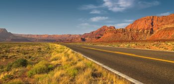 Driving Along Echo Cliffs (Arizona)