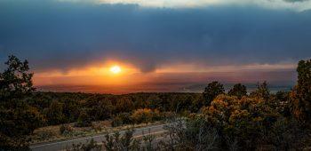 Sunset Drive from Arizona to Utah