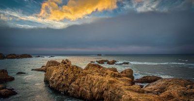 Sunset at Garrapata State Park Beach (California)