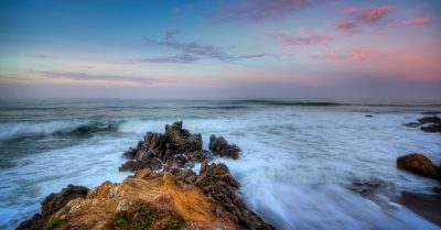 Sunrise At Moonstone Beach (California)