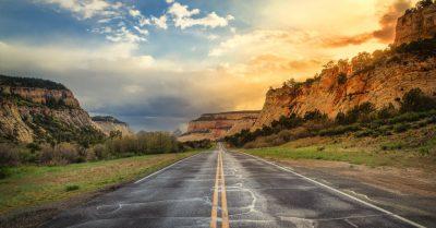 Entering Zion National Park (Utah)