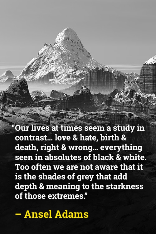 Ansel Adams on Life and Colors