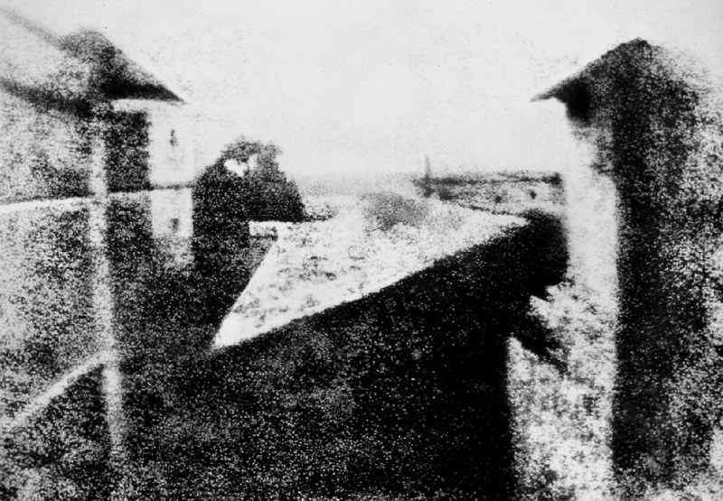 View From The Window At Le Gras, Joseph Nicéphore Niépce (1826)