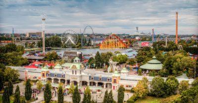 Park La Ronde from Jacques Cartier Bridge (Montreal)