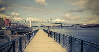 Boardwalk to Clock Tower (Montreal)