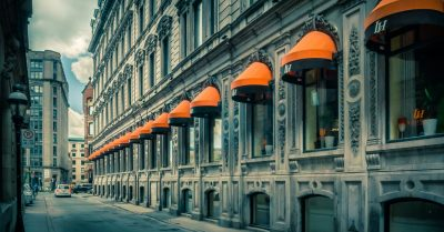 Orange Row in Old Montreal (Canada)