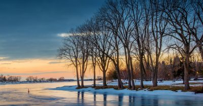 Winter Sunset Reflections (Montreal)