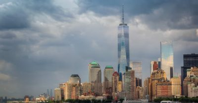 New York Skyline with One World Trade Center (Freedom Tower)