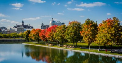 Bonsecours Basin Park in Fall Colors (Montreal)