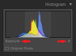 Lightroom Histogram - Exposure