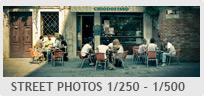 Shutter Speed - Street Photography 1/250 - 1/500