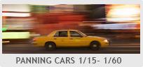 Shutter Speed Chart - Panning Cars