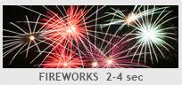 Shutter Speed - Fireworks 2-4 sec