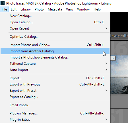 Merging Lightroom Catalogs - Import Photos and Video